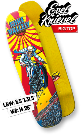 Elephant Brand Skateboards - Evil Knievel Big Top Deck