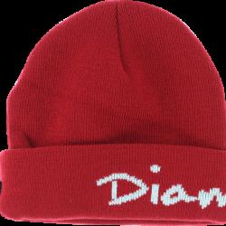 Diamond OG Script Fold Beanie - Red