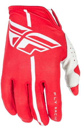 Fly Racing Lite Gloves - Red / Grey