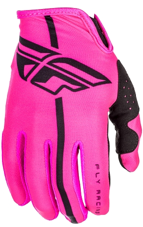 Fly Racing Lite Gloves - Neon Pink / Black