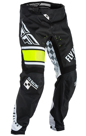 Fly Racing Kinetic BMX Pants - Black / White