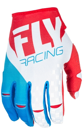 Fly Racing Kinetic Gloves - Red / White / Blue