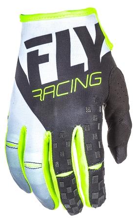 Fly Racing Kinetic Gloves - Black / White / Hi-Vis