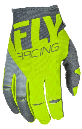 Fly Racing Kinetic Gloves - Hi-Vis / Grey