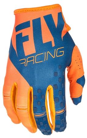 Fly Racing Kinetic Gloves - Orange / Navy