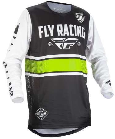 Fly Racing Kinetic Era Jersey - Black / White