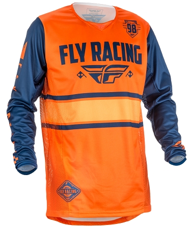 Fly Racing Kinetic Era Jersey - Orange / Navy
