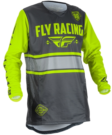 Fly Racing Kinetic Era Jersey - Grey / Hi-Viz