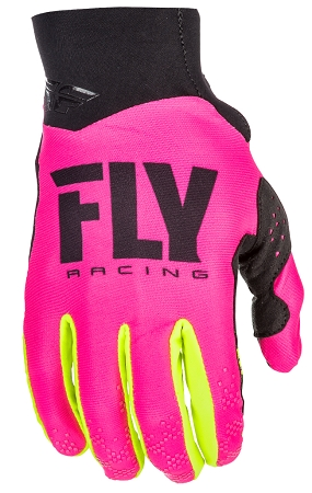Fly Racing Pro Lite Gloves - Neon Pink / Hi-Vis