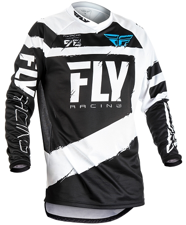 Fly Racing F-16 Jersey - Black / White