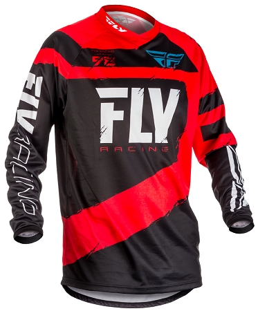 Fly Racing F-16 Jersey - Red / Black / Grey