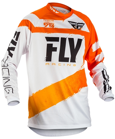 Fly Racing F-16 Jersey - Orange / White