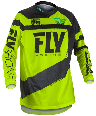 Fly Racing F-16 Jersey - Black / Hi-Vis