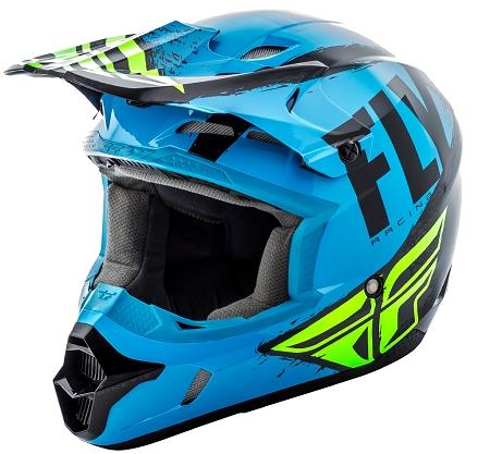 Fly Racing Kinetic Burnish Helmet - Blue / Black / Hi-Vis