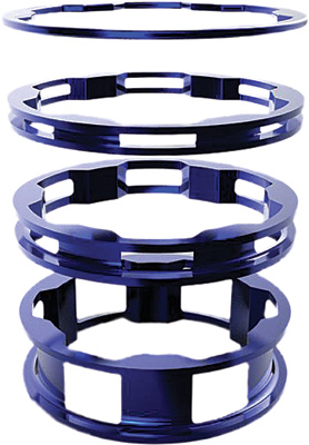 BOX One Zero Alloy Headset Spacers - Blue