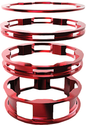 BOX One Zero Alloy Headset Spacers - Red