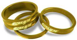 Crupi Aluminum Headset Spacers - Gold