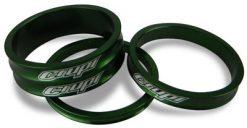Crupi Aluminum Headset Spacers - Green