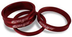 Crupi Aluminum Headset Spacers - Red