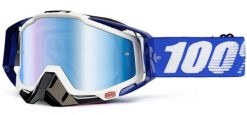 100% Race Craft Plus Goggles - Cobalt Blue w/ Mirror Lens & Noseguard