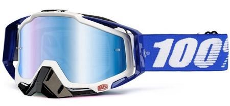 100% Race Craft Plus Goggles - Cobalt Blue w/ Mirror Lens & Noseguard