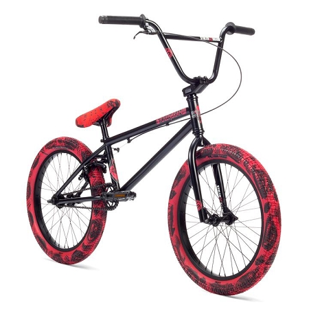 2019 Stolen Casino Complete Bike - Black w/ Red Tie Dye