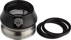 """Odyssey Integrated 1-1/8"""" 45x45 - Black Headset with Conical Spacer"""