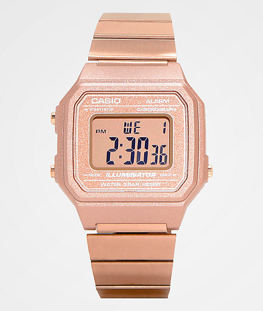 e9aa46438bb Casio B650WC-5AVT Vintage Rose Gold Digital Watch - Time 2 Shine BMX