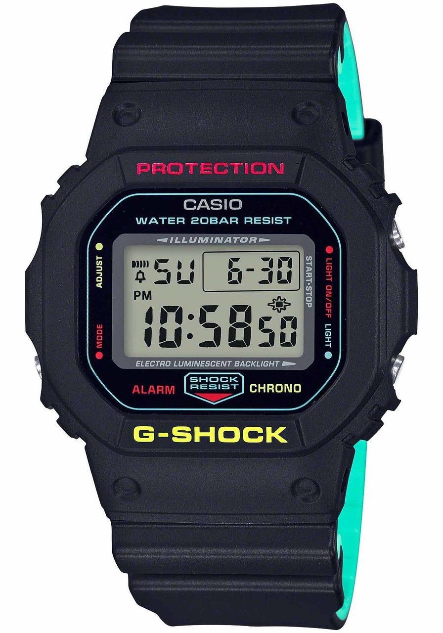 Casio G Shock Dw5600 Black Rasta Edition