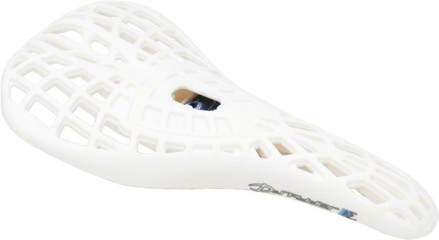 Hollow Chromoly Rails White Tioga D-Spyder BMX Saddle