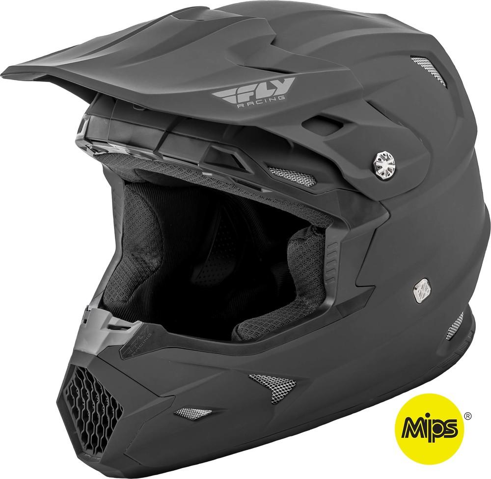 HI-VIZ Green//Black Embargo Fly Racing 2020 Toxin Helmet with MIPS Medium