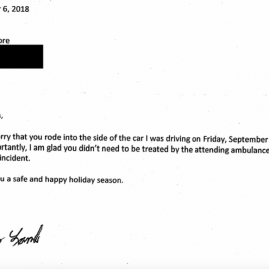 Driver Who Wrote Non-Apology Letter to 10-Year-Old Cyclist May Avoid Court